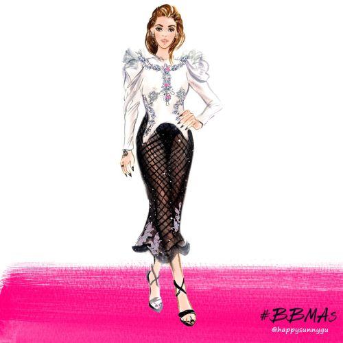 Girl giving pose on ramp illustration