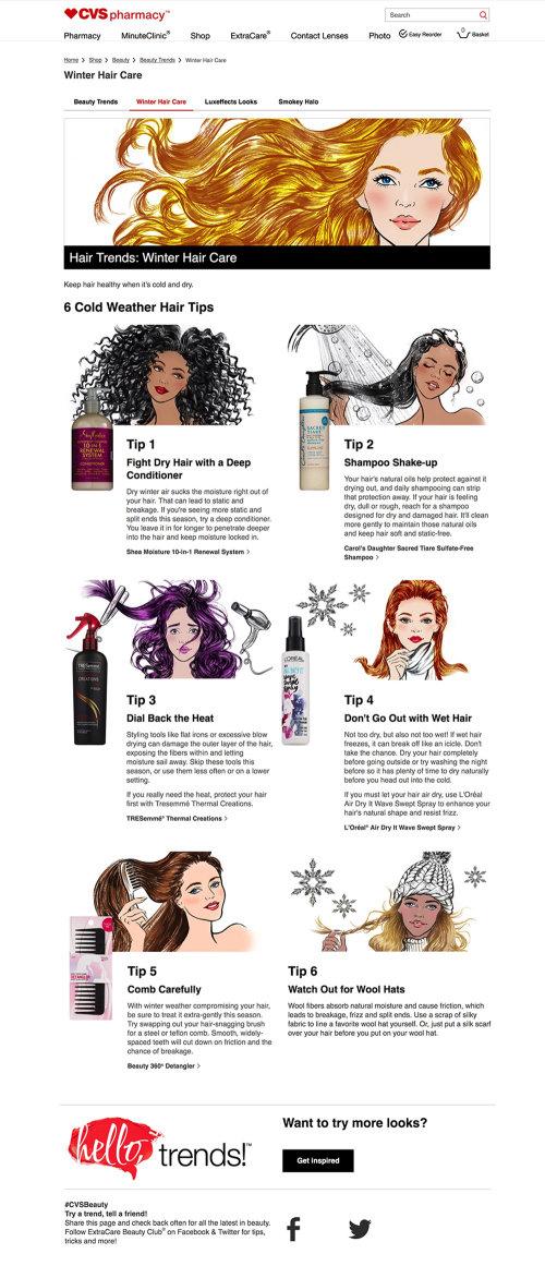 Hair advertisement for CVS pharmacy