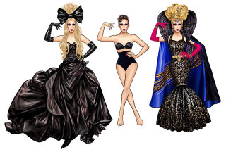 Fashion women giving pose
