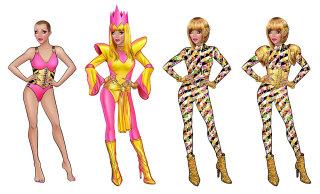 Fashion divas giving a trendy pose artwork