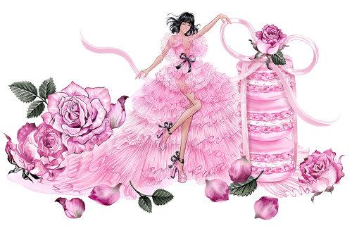 Fille de mode portant une belle robe de tulle