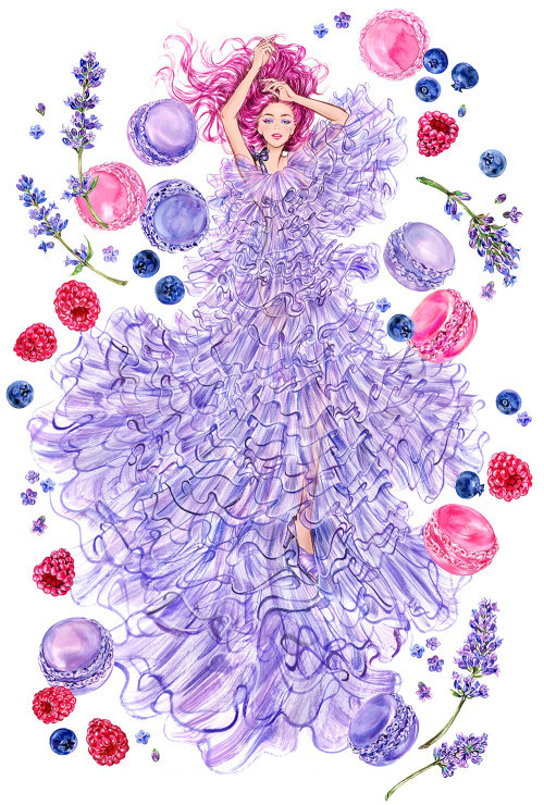 Illustration aquarelle de fille fantastique