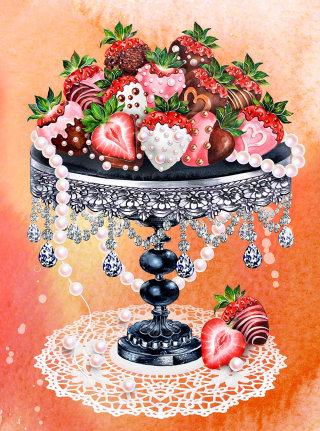 Strawberries illustration