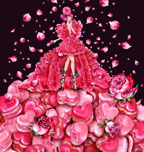 femme porte une robe couture Schiaparelli