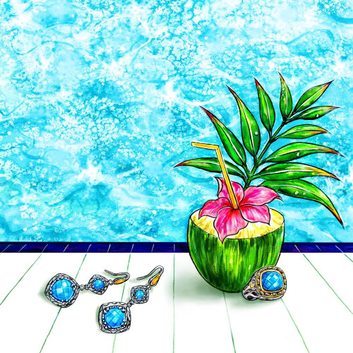 Jewelry, Accessory, Summer, Poolside, Coconut, Summery Drink