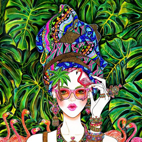 Jewelry, Accessory, Flamingo, Summer, Summer Mood, Sunglasses, Sunnies