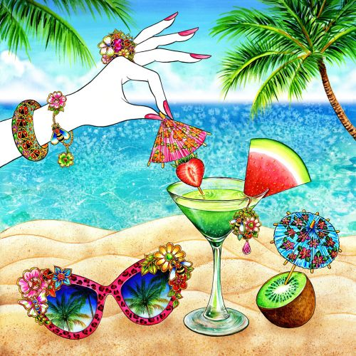Jewelry, Accessory, Palm Tree, Summer, Summer Mood, Sunglasses, Sunnies, umbrella