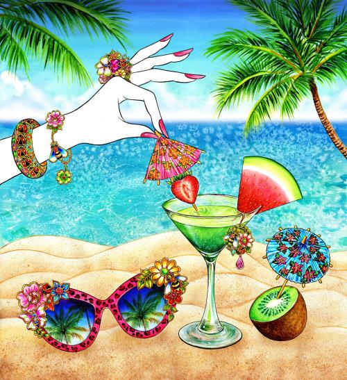 Jewelry, Accessory, Palm Tree, Summer, Summer Mood, Sunglasses, Sunnies, umbrella