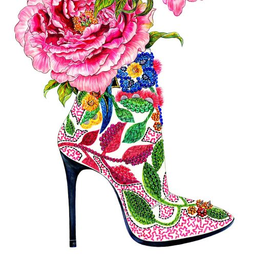 shoe, shoe lover, pink, flower, peony, highheel