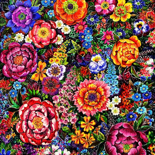 textile, flowers, patterns