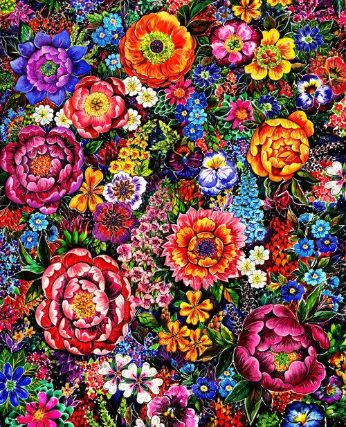 textile, fleurs, motifs