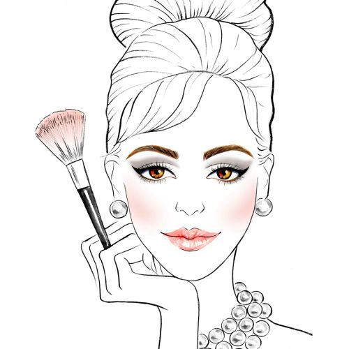 beauty with makeup brush