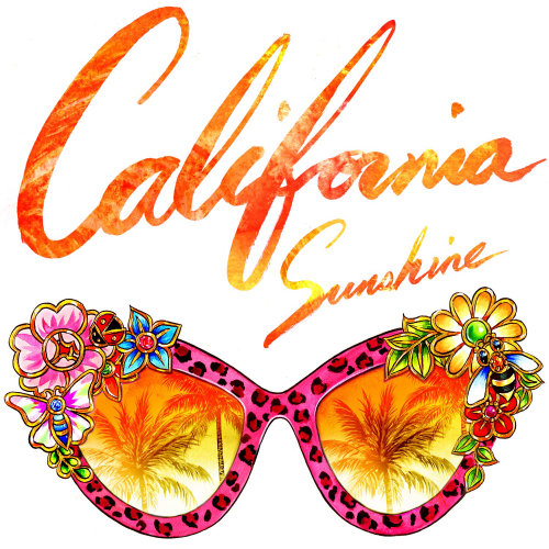 Conception d'art de lettrage de lunettes de soleil de Californie