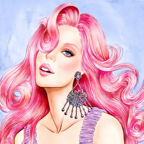 Sunny Gu International Fashion & Beauty illustrator. L.A
