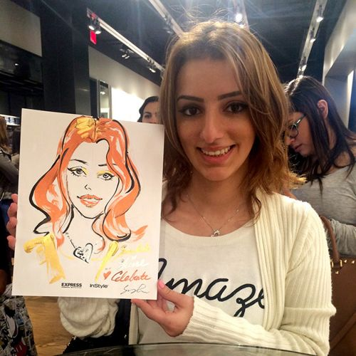 Sunny Gu Live Event Drawing Beauty