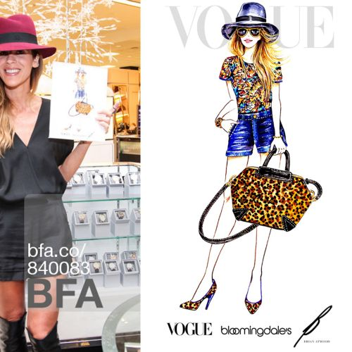 Live event drawing vogue fashion