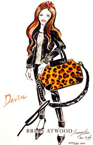 Tiger skin hand bag illustration