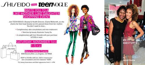 Evento ao vivo desenhado na capa da Vogue