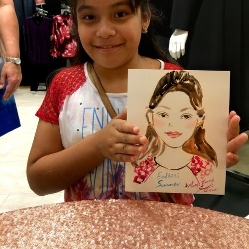 Live event drawing girl with her portrait