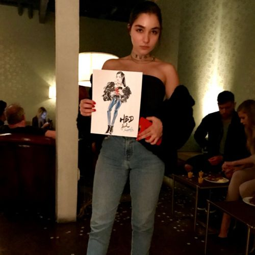 Live event drawing of young girl