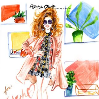 Fashion live drawing by sunny Gu