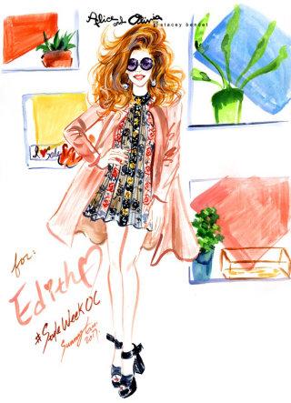 Fashion live drawing by sunny Gu