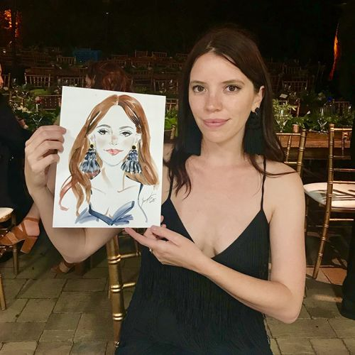 Live event drawing of beauty-portrait