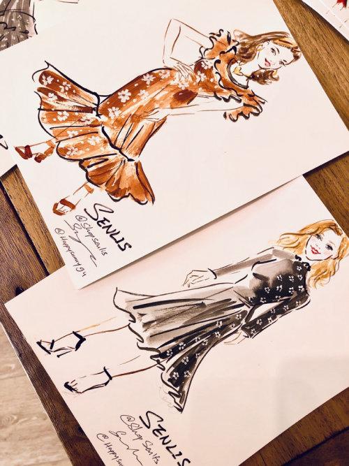 Desenho de evento ao vivo de duas mulheres