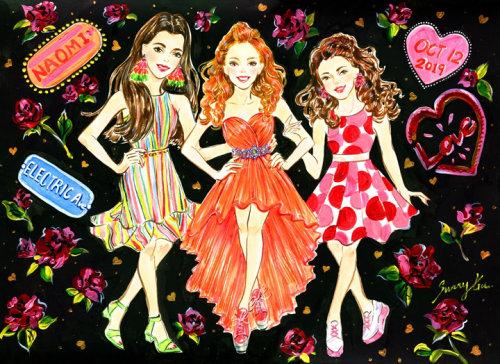 Desenho de arte ao vivo de meninas