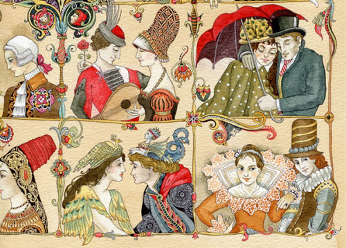 Decorative historical people painting