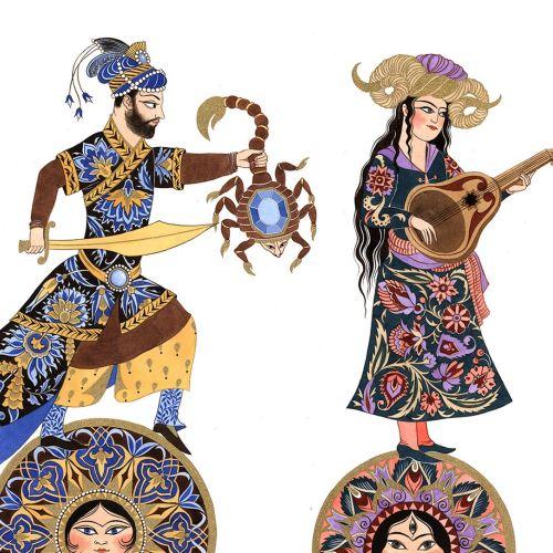 Horoscopes Decorative Design By Sveta Dorosheva Illustrator
