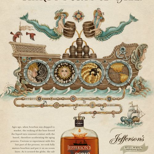 Vintage Art For Jefferson's Ocean Ad