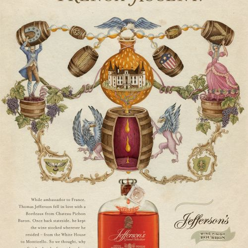 An Illustration For Jefferson's Bourbon Ad