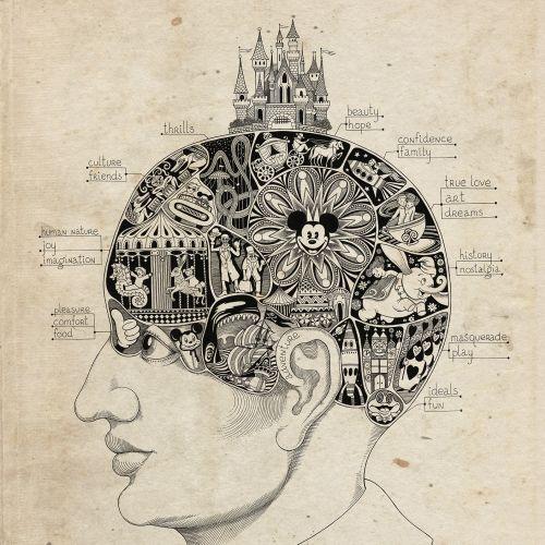 Disney-Lover's Brain Vintage Artwork