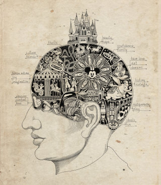 Disney-Lover's Brain Vintage Artwork