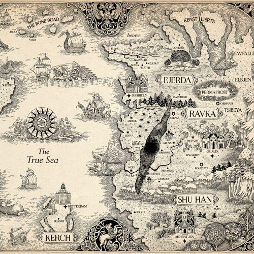 Decorative historical map