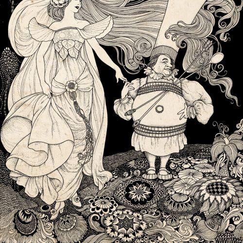 Magical lady illustration