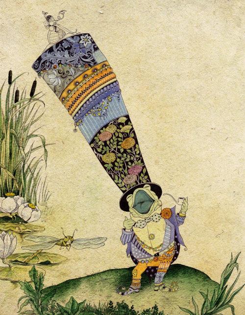 Menina com ilustração de chapéu longo