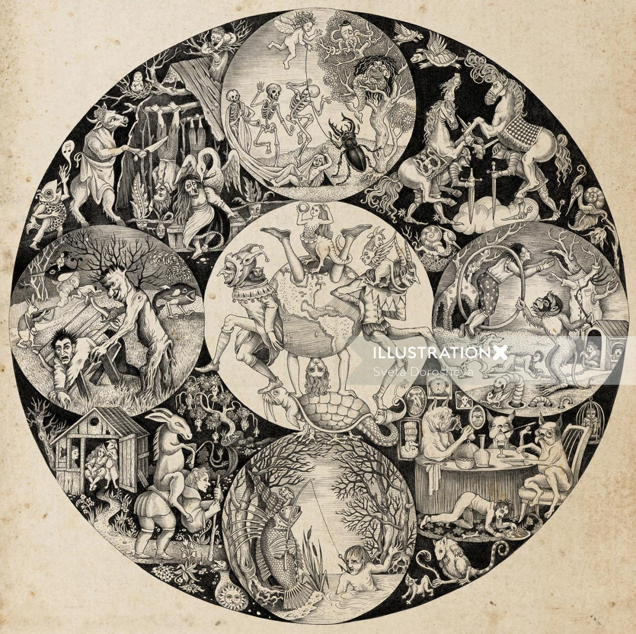 Classical fairy tale illustration
