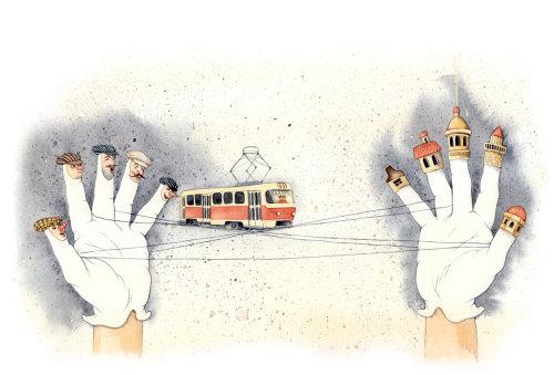 Uma ilustração de ônibus