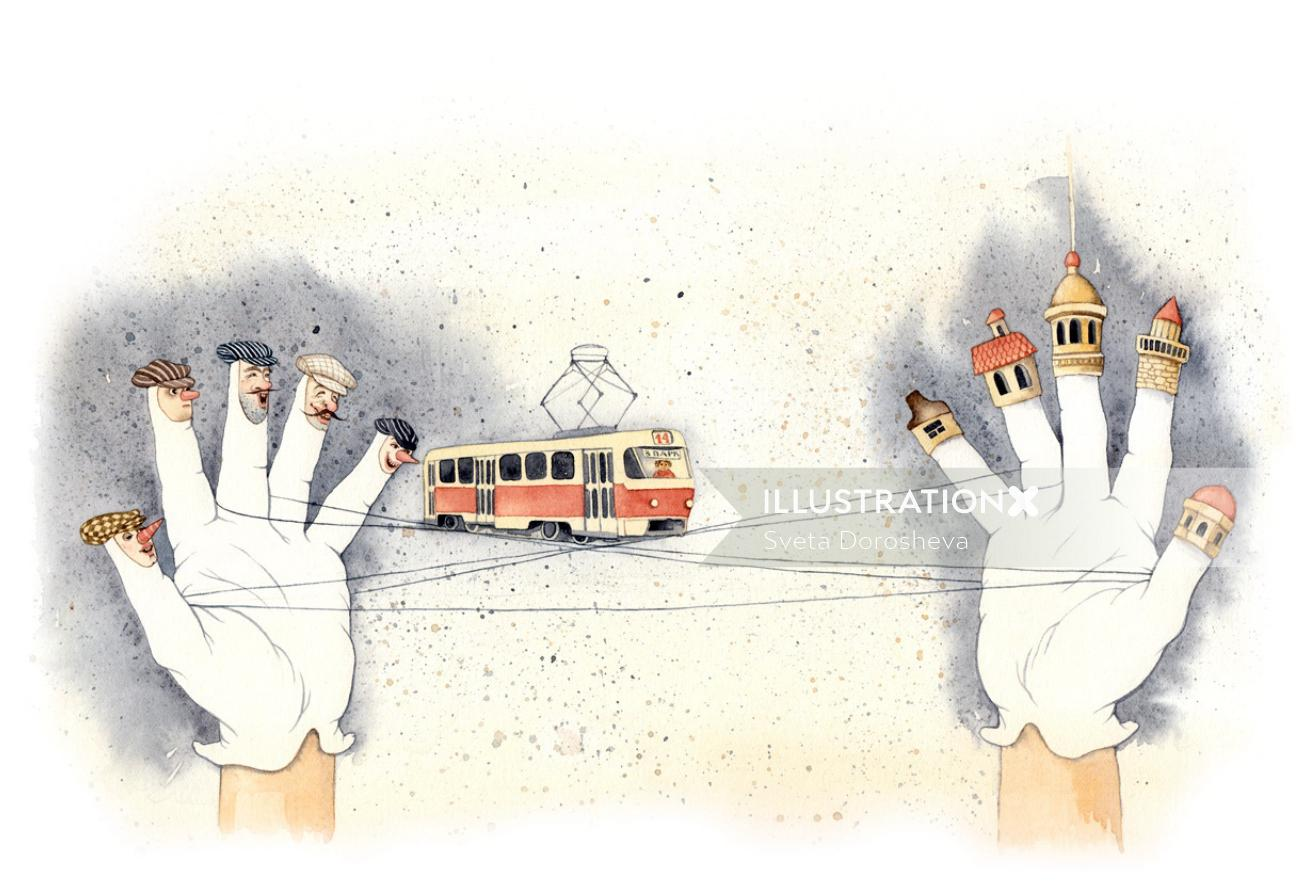 An illustration of bus