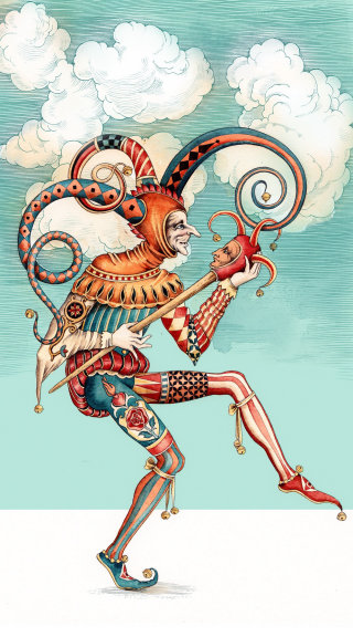 Tarot-joker decorative art