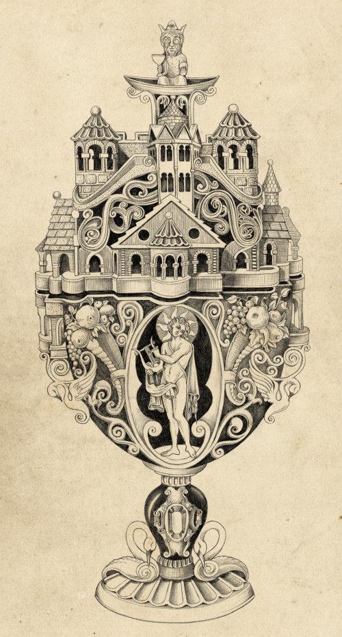 ilustração das mitologias por svetlana dorosheva