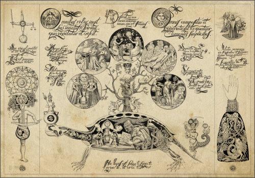 Uma ilustração do conto de fadas da mulher