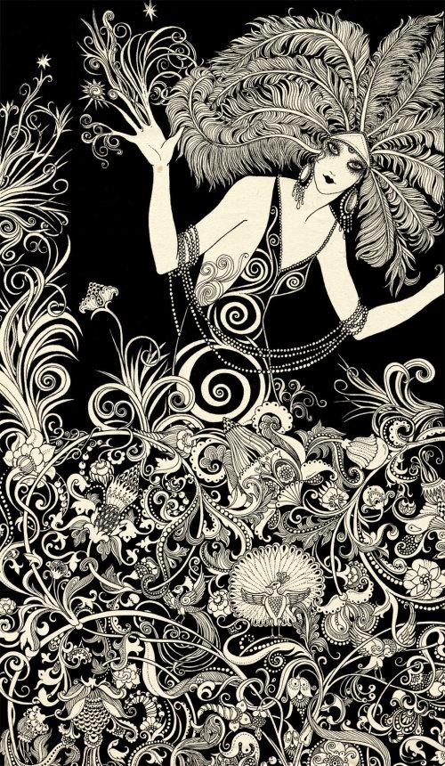 Ilustração mágica da menina