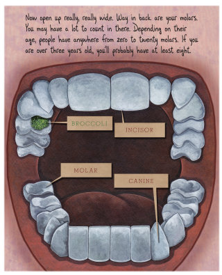 Dental illustration for children's book