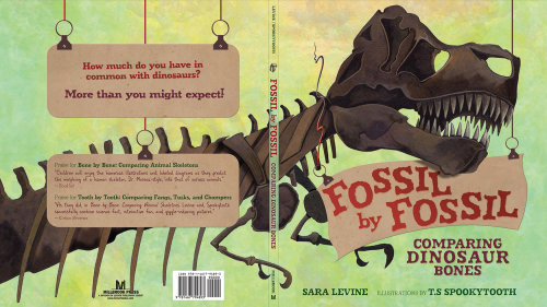 Cover art of Fossil by Fossil book about Dinosaur bones