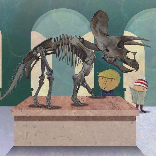 Animal Dinosaur fossils painting