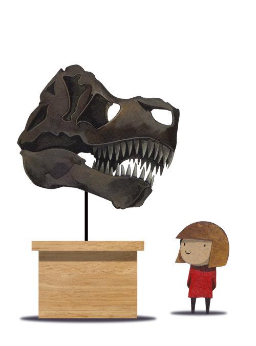 Dinosaur skull illustration by T. S Spooky Tooth