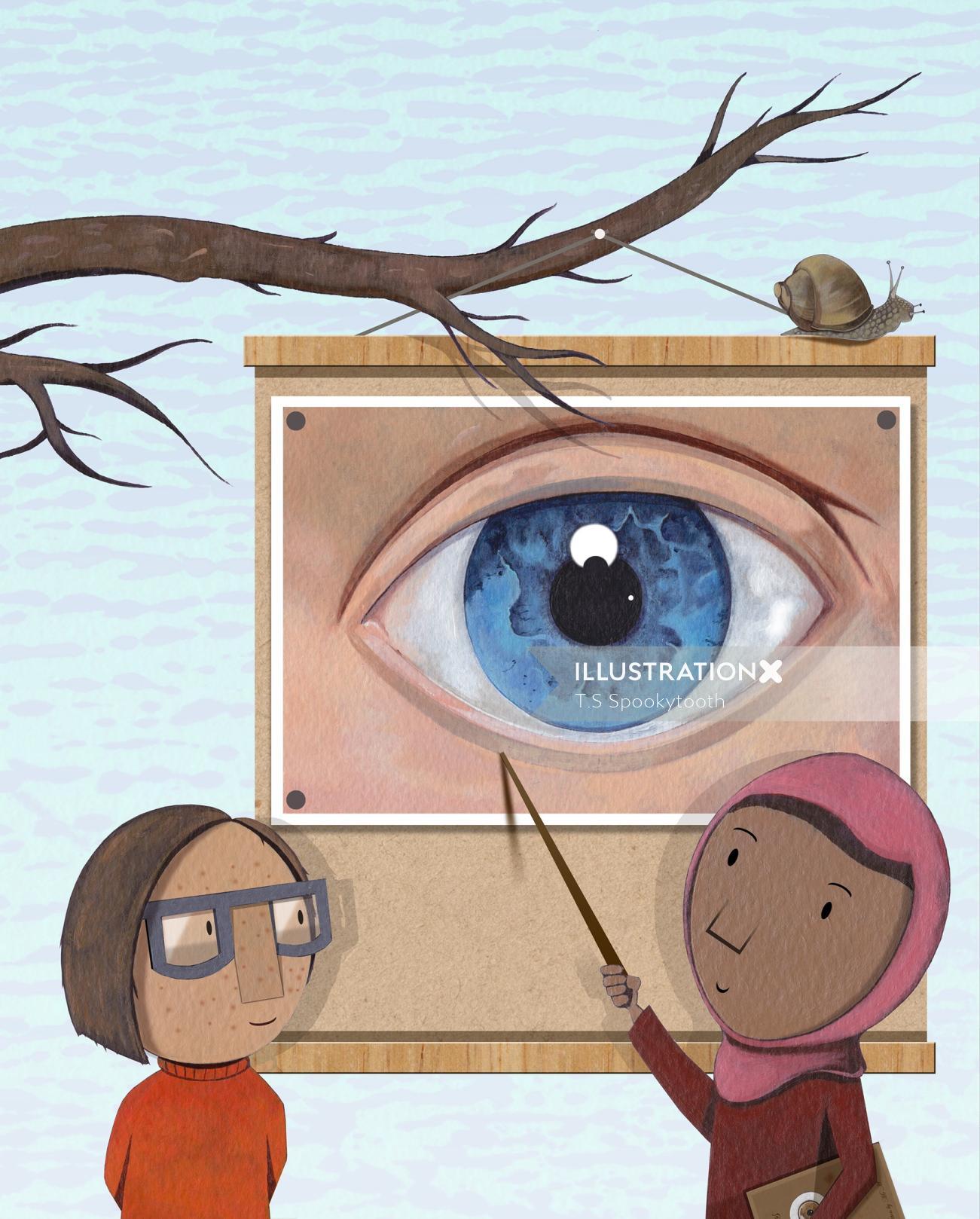 Children Interior spread for Eye by Eye.